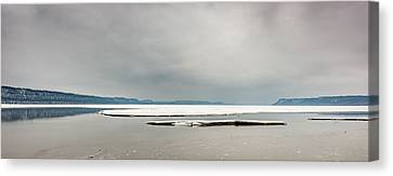 Canvas Print featuring the photograph Ice Sheet by Dan Traun