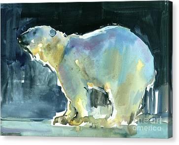 Ice Silhouette Canvas Print by Mark Adlington