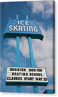 Canvas Print featuring the photograph Ice Skating 2 by Matthew Bamberg