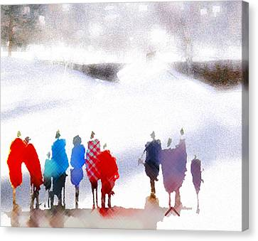 Ice Space Canvas Print by Anil Nene