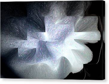 Ice Throne Abstract Canvas Print
