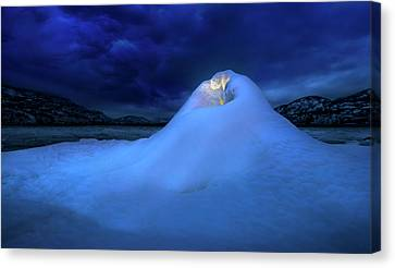 Canvas Print featuring the photograph Ice Volcano by John Poon