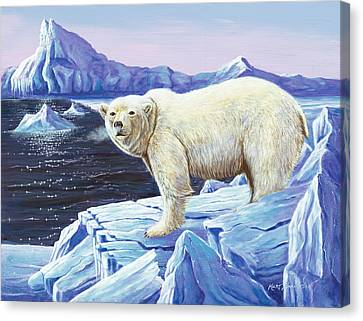 Canvas Print featuring the painting Ice Walker by Kurt Jacobson