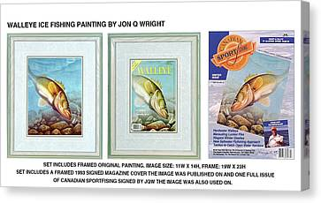 Magazine Art Canvas Print - Ice Walleye by JQ Licensing