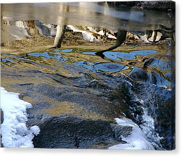 Ice Water Reflection Canvas Print