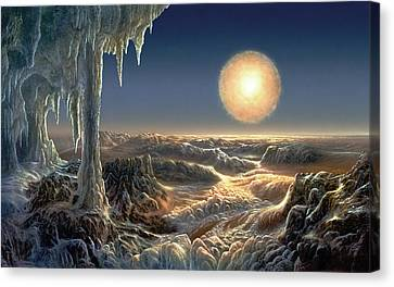 Ice World Canvas Print by Don Dixon