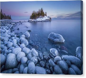 Ice World // North Shore, Lake Superior  Canvas Print