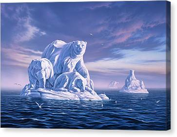 Icebeargs Canvas Print by Jerry LoFaro