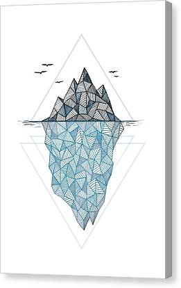 Mountain Canvas Print - Iceberg by Barlena