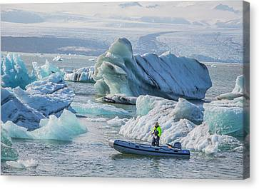 Icebergs On Jokulsarlon Lagoon In Iceland Canvas Print