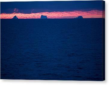 Icebergs On The Distant Horizon Canvas Print