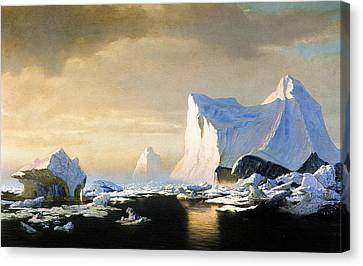Winter Landscapes Canvas Print - Icebergs by William Bradford