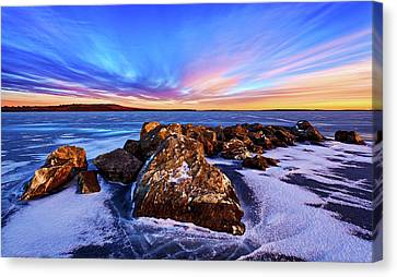 Maine Winter Canvas Print - Icebound 2 by ABeautifulSky Photography by Bill Caldwell