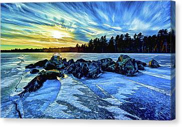 Icebound 5 Canvas Print by ABeautifulSky Photography