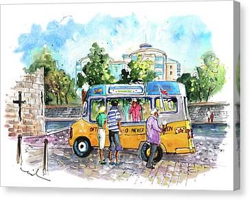 Icecream Van In York 02 Canvas Print