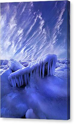 Canvas Print featuring the photograph Iced Blue by Phil Koch