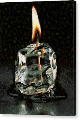 Iced Candle - Da Canvas Print by Leonardo Digenio