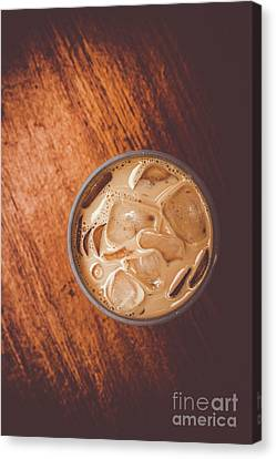 Coffee Shop Canvas Print - Iced Coffee Beverage On Copy Space by Jorgo Photography - Wall Art Gallery