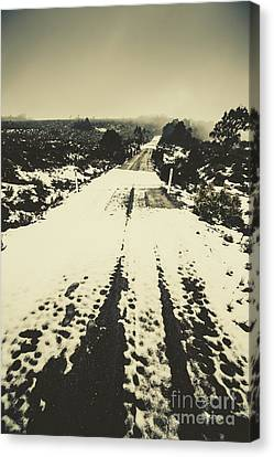 Iced Over Road Canvas Print by Jorgo Photography - Wall Art Gallery