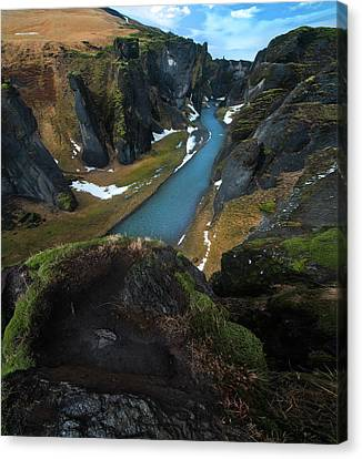 Iceland Gorge Canvas Print by Larry Marshall