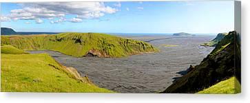 Iceland Landscape Near Vik Canvas Print by Sergio Boccardo