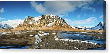 Canvas Print featuring the photograph Iceland Landscape Panorama Sudurland by Matthias Hauser