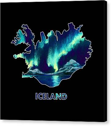 Iceland - Northern Lights - Aurora Hunters Canvas Print by Anastasiya Malakhova