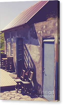 Canvas Print featuring the photograph Icelandic Cafe by Edward Fielding