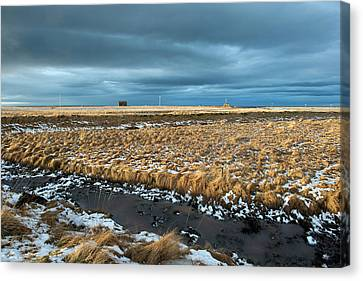 Canvas Print featuring the photograph Icelandic Landscape by Dubi Roman