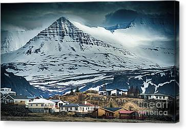 Icelandic Village Canvas Print by Svetlana Sewell