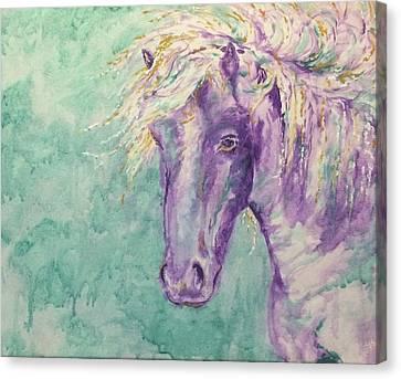 Icelandic Winds Canvas Print by Julie Khyler