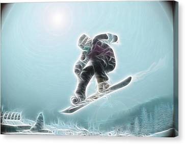 Snowboarding Canvas Print - Iceman by Rich Beer