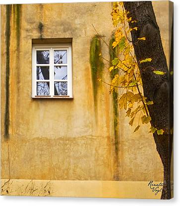 Ich Warte Unten Canvas Print by Renata Vogl