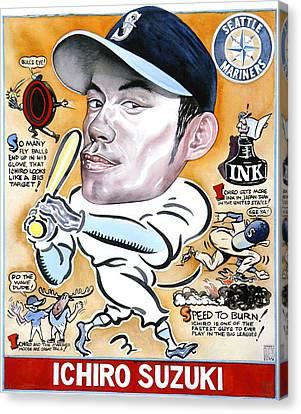 Ichiro. Canvas Print by Robert  Myers