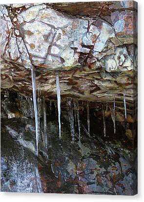 Canvas Print featuring the photograph Icicle Art by Doris Potter
