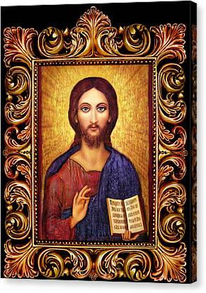 Icon Christ Altar Canvas Print by Ananda Vdovic