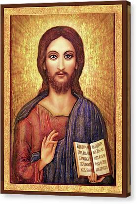 Christian Sacred Canvas Print - Icon Christ by Ananda Vdovic