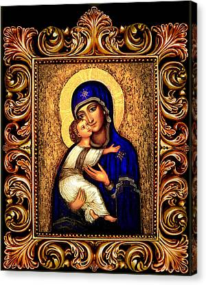 Icon Madonna Altar Canvas Print by Ananda Vdovic