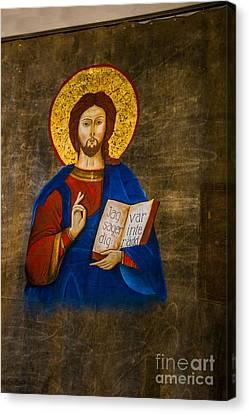 Icon Of Jesus Canvas Print by Roberta Bragan
