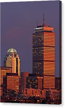 Canvas Print featuring the photograph Iconic Boston by Juergen Roth
