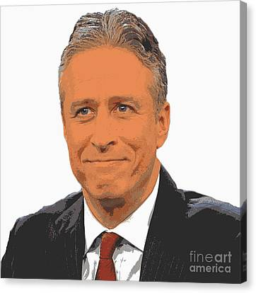 Iconic Jon Stewart Canvas Print by Pd