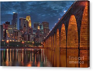 Iconic Minneapolis Stone Arch Bridge Canvas Print by Wayne Moran