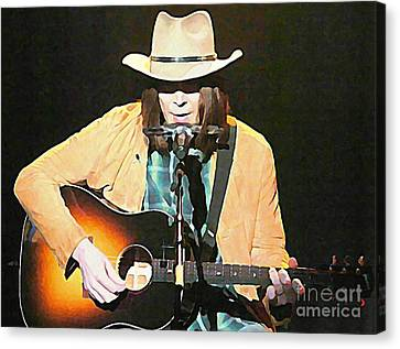 Iconic Neil Young Canvas Print by John Malone