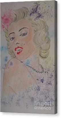 Iconic Women.marilyn Munroe Canvas Print by Ger Ryan