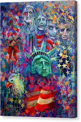 Icons Of Freedom Canvas Print by Peter Bonk