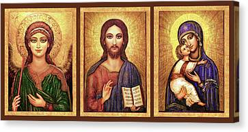 Icons Tryptichon Canvas Print