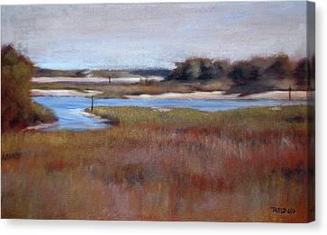 Icw Looking Toward Masonboro Canvas Print