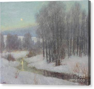 Icy Evening Canvas Print by Lori McNee