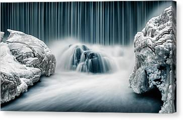Icy Falls Canvas Print by Keijo Savolainen