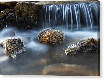 Icy Rocks On The Coxing Kill #1 Canvas Print by Jeff Severson